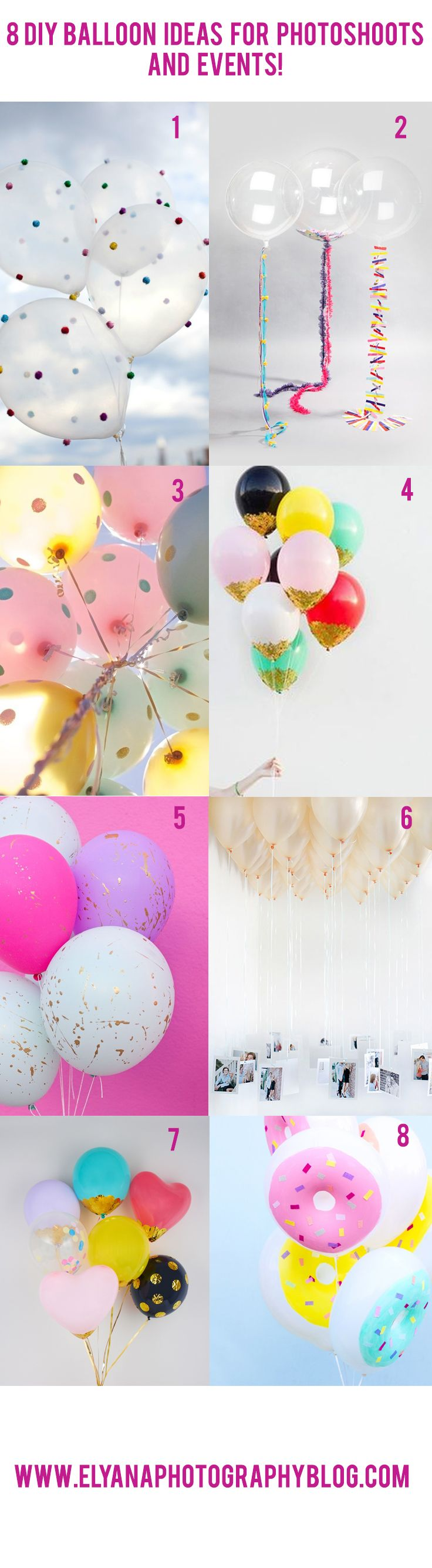 Balloon Photoshoot Ideas - Elyana Ivette Photoshop Actions and Lightroom Presets