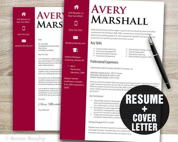 This Classy Resume Template Is An Instant Download Product And Includes A Matching Cover Letter