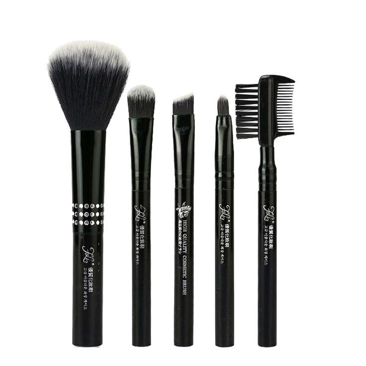 5pcs Mini Artificial Fiber Blush Foundation Powder Lipbrush Eyeshadow Eyebrow Tassel Brushes Cosmetic Makeup Brushes Tools #Affiliate