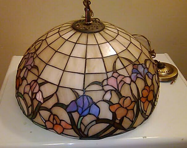 Tiffany Style Vintage Stained Glass Hanging Lamp Shade