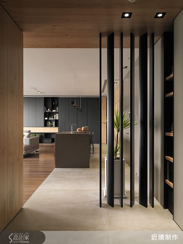 Black Partition Entrance Pinterest Living Rooms Overalls And Screens