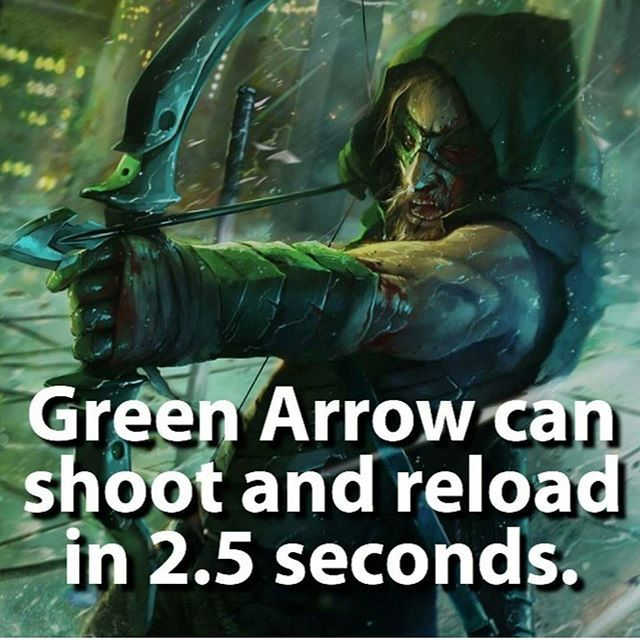 Funny. He does it a lot faster on Arrow. Actually he does it about that same time in my opinion.