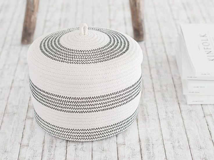 Kostenlose Anleitung: Korb aus Seil herstellen / free diy tutorial: basket made out of rope via DaWanda.com