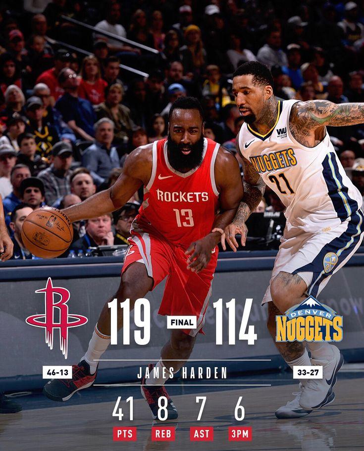 #NBA Scoreboard Sunday  #Rockets #119 #Nuggets 114 #Spurs #110 #Cavs 94 #Pelicans #123 #Bucks 121 OT #Wizards #109 #Sixers 94 #Hornets #114 #Pistons 98