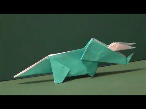 """恐竜「トリケラトプス」折り紙Dinosaur """"Triceratops"""" origami - YouTube"""