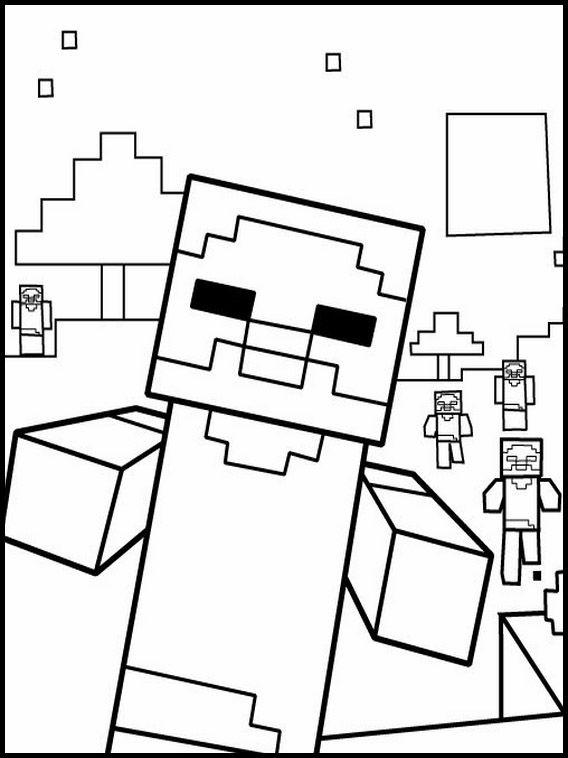 Minecraft 8 Ausmalbilder Fur Kinder Malvorlagen Zum Ausdrucken Und Ausmalen Minecraft Ausmalbilder Ausmalbilder Zum Ausdrucken Malvorlagen Zum Ausdrucken