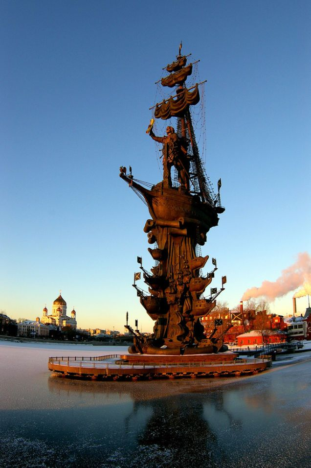 Peter the Great in Moscow, Russia
