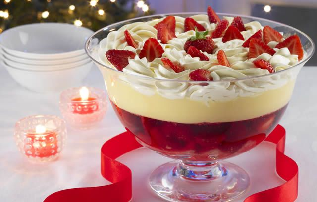 Try this traditional recipe for sherry trifle: another popular British Christmas dessert.