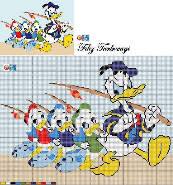 '' Uyan da balığa gidelim '' demek geliyor içimden , ama demeyeceğim tamam mı ? :))Designed by Filiz Türkocağı.( Donald Duck )