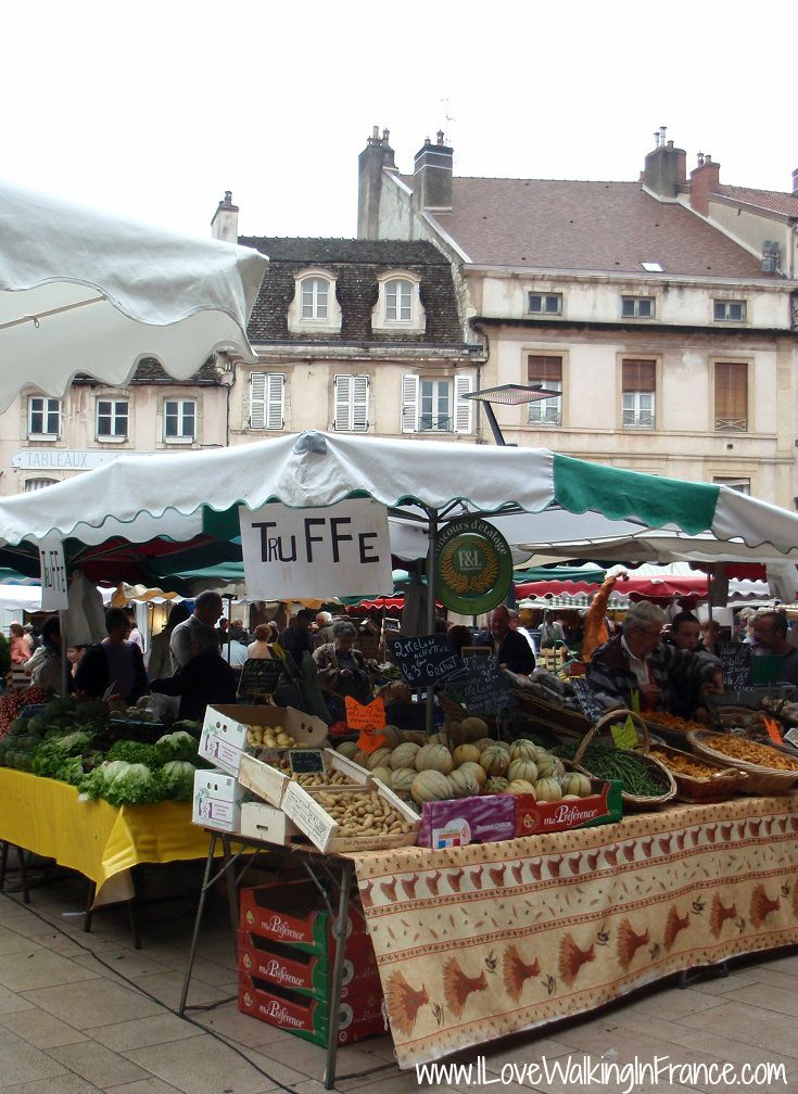 Truffles for sale at the markets in Beaune, France