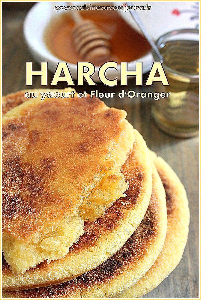 Recette de Harcha au yaourt et fleur d'oranger