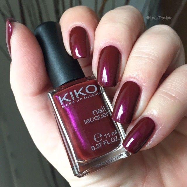 swatch KIKO 498 Pearly Cherry Purple