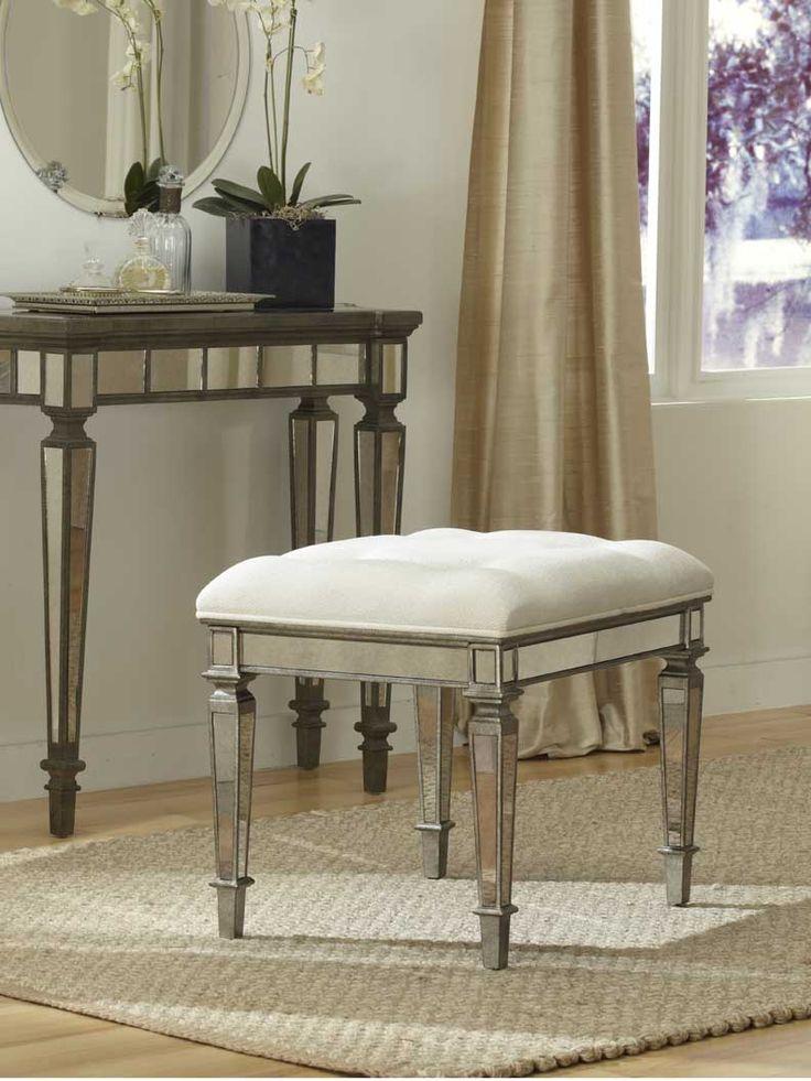 Claudia Mirrored Vanity Stool  GlamFurniture com. 29 best Master Bedroom images on Pinterest   Master bedrooms
