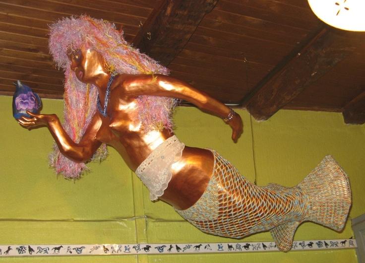 sirène (mermaid) papier mâché (blog les aventures de la mère poulpe)