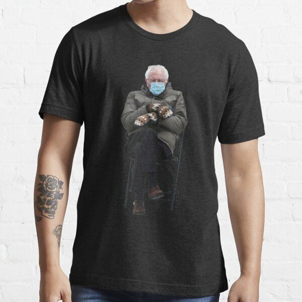 Bernie Sanders Mittens Meme Shirt Bernie Sanders Memes Mittens Bernie Meme Mittens Bernie Mittens Bernie Sanders Mittens Shirt Essential T Shirt By Rahala In 2021 Shirts Meme Shirt Tshirt Colors