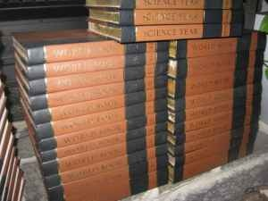 World Book Encyclopedia Set, these were put to great use back in the day.  I bet the kids today don't even know what they are???