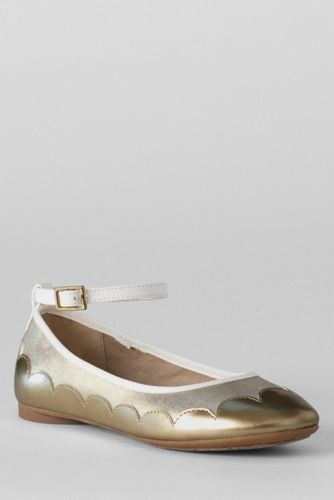 Girls' Piper Ankle Strap Ballet Shoes from Lands' End