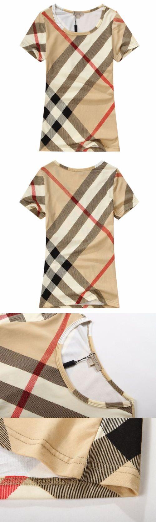 T-Shirts 63869: Burberry Classic Fashion Desgin Brown Women Short Sleeve T-Shirts S M L Xl Xxl -> BUY IT NOW ONLY: $99.99 on eBay!