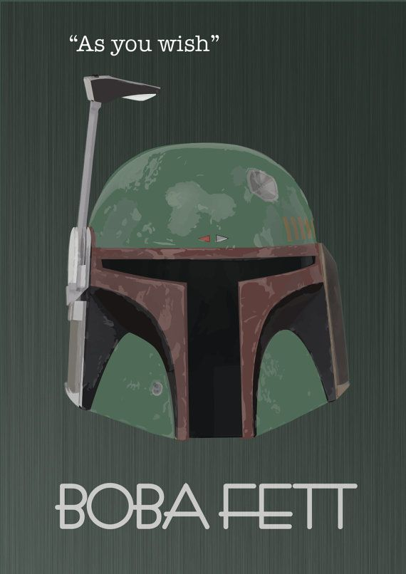 BOBA FETT Star Wars Wall Art Print Poster selectable by MixPosters