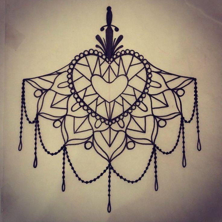 under boob tattoo diamond heart mandala tattoos pinterest mandalas diamanter och hj rta. Black Bedroom Furniture Sets. Home Design Ideas