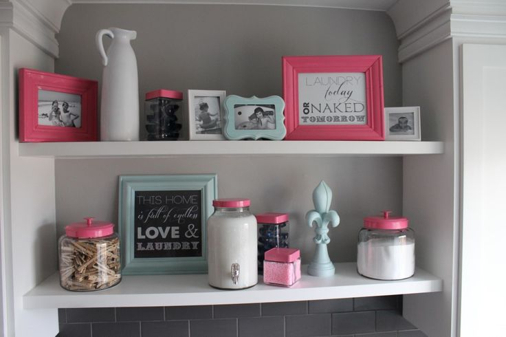 How to decorate your laundry room!  Plus, free printable laundry room quotes  www.elliebeandesign.com