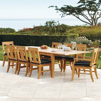 2011 melbourne 7 pc rectangular dining set frontgate for Dining table and chairs melbourne