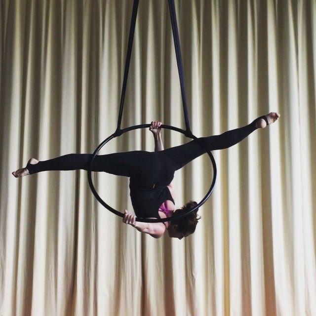 New split on aerial hoop
