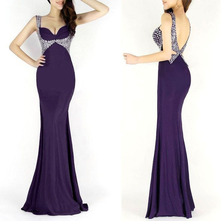 6 Colors Black/Royal Blue/Red/Purple Mermaid Evening Dresses 2017 Long Sequin Dinner Party Dresses Grace Karin Evening Gown 6096