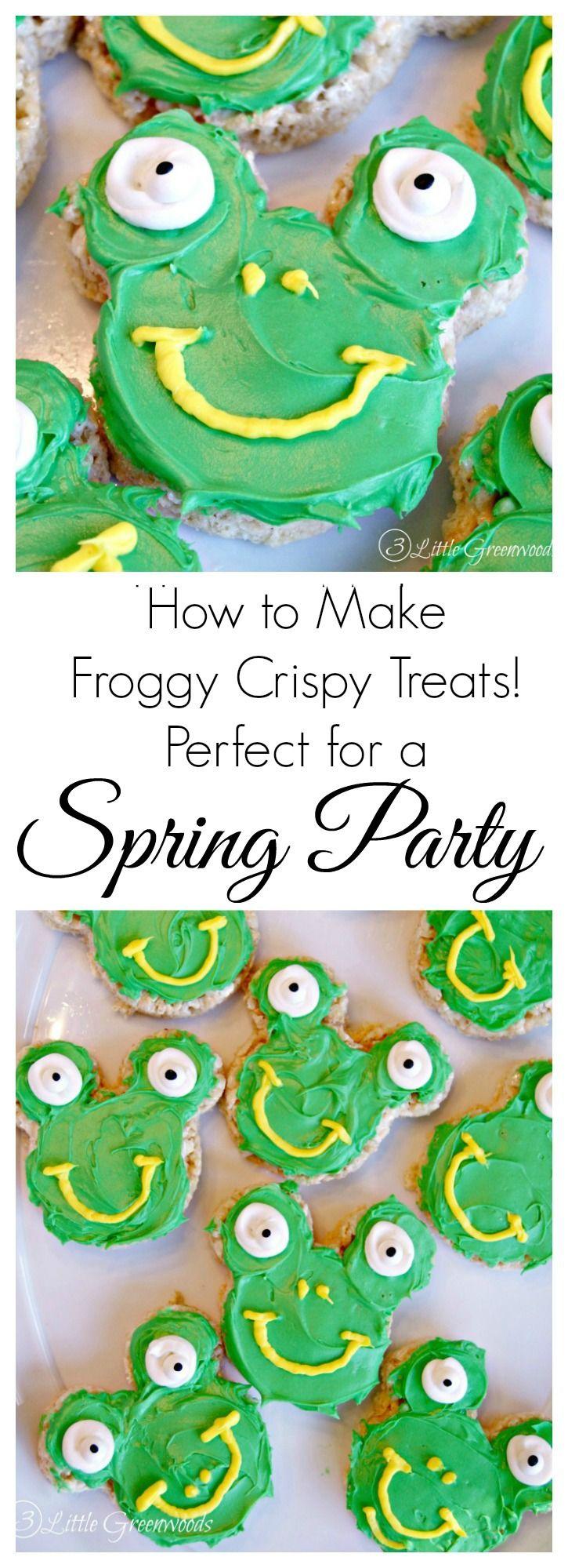 Froggy Crispy Treat An Easy Easter
