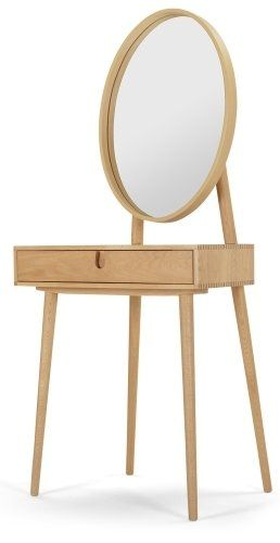 The Penn Dressing Table in Oak. Elegant and cool, with clean lines for understated chic. £259 | MADE.COM