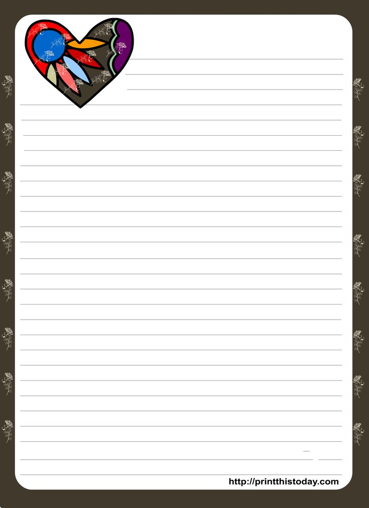 It's just an image of Accomplished Free Stationary Template
