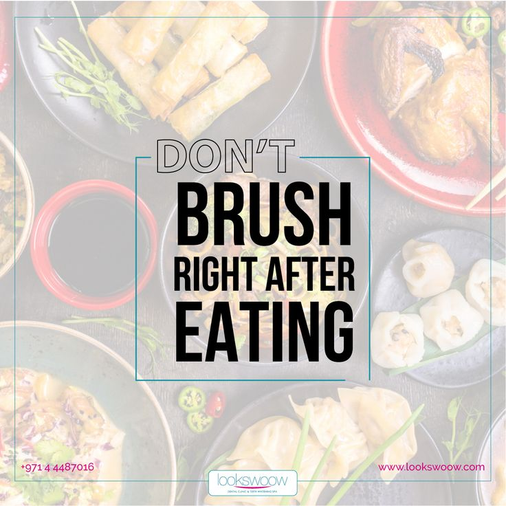 This may come as a surprise, but brushing your teeth right after a meal can be one of the worst things you can do for your healthy teeth. A toothbrush can be considered an assault weapon against your smile if used immediately after eating certain foods.  #Lookswoow #DentalFact #DidyouKnow #Smile #HealthyTeeth