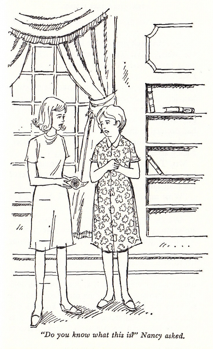 nancy drew 33 the witch tree symbol 1975 internal illustration - Nancy Drew Coloring Pages