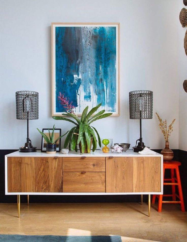 Custom built two tone credenza media cabinet buffet  by ThePapayaTree on Etsy https://www.etsy.com/listing/215133864/custom-built-two-tone-credenza-media
