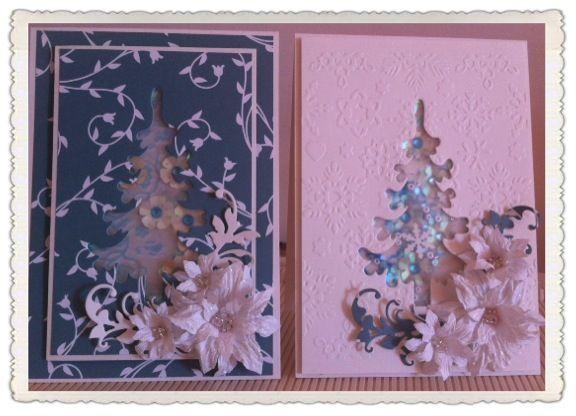Christmas collection 2015 Handmade poinsettias Shaker card
