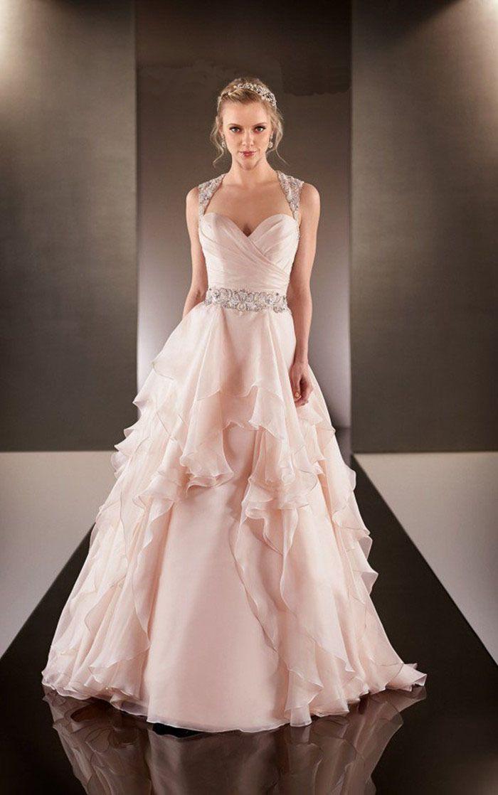 Цены В Евро Топ Мода Свадебные Платья Vestido Де Noiva 2016 Свадебные Платья Персик Цветные Свадебные Платья Casamento Robe Mariage