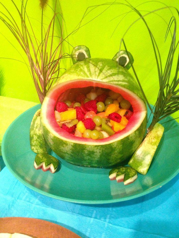 Melon frog melon con forma de sapo melon decoraciones for Como secar frutas para decoracion