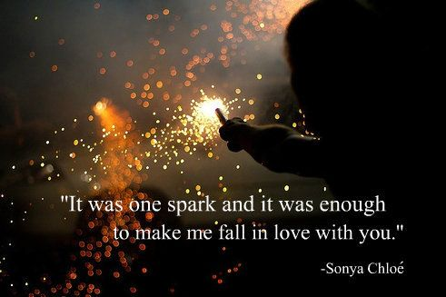 spark meaning in relationship but love