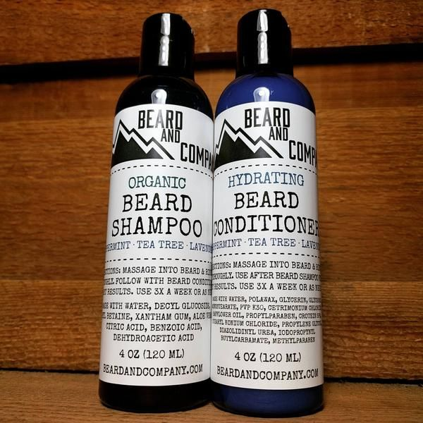 Treat your beard to organic beard shampoo and conditioner with all-natural peppermint for a cool, tingly sensation.