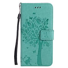 For Apple iPhone 7 Plus 7 PU Leather Cat and Tree Pattern Phone Case 6s Plus 6 Plus 6s 6 SE 5s 5 5c 4s 4 – NZD $ 11.74