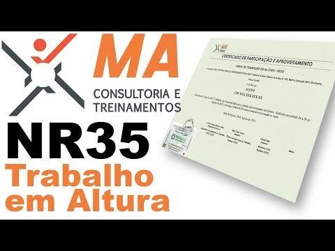 Curso NR 35 na MA Consultoria e Treinamentos.