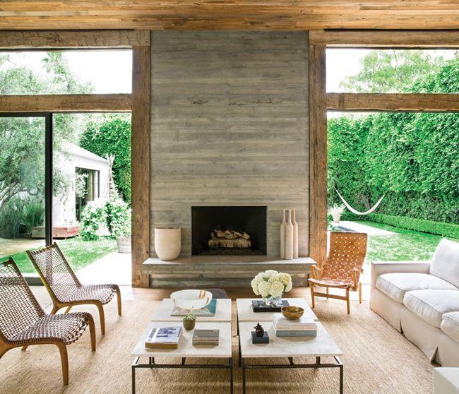 Marble Fireplace Rug: Dream House Alert: Jenni Kayne's Beverly Hills Home