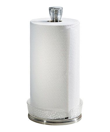 Keep paper towels close at hand with this sleek stand. Made from brushed  stainless steel, it complements classic and contemporary dcor.