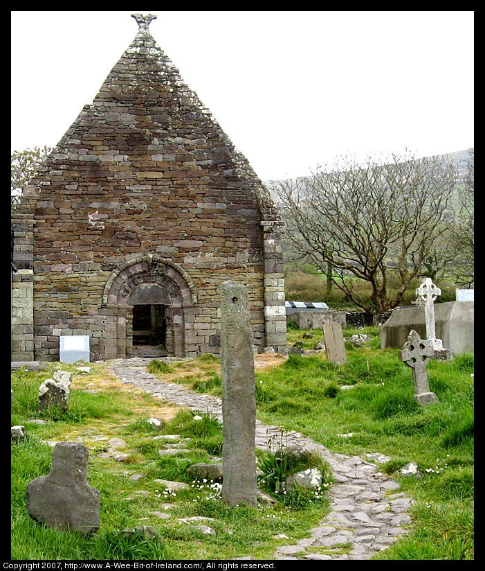 12th century church ruins in the Dingle Peninsula, Ireland,I have pictures I took in this church in 1999.