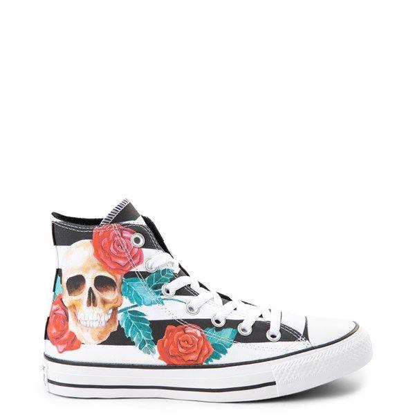 Converse Chuck Taylor All Star Hi Skull Roses Sneaker