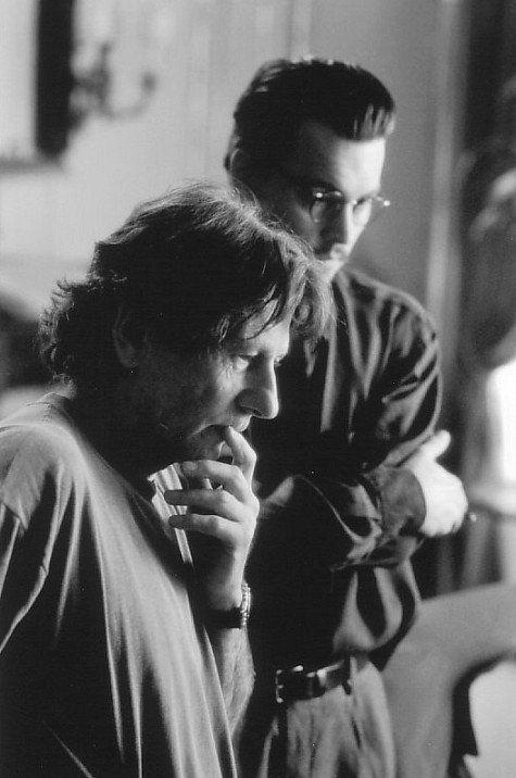 Johnny Depp and Roman Polanski in The Ninth Gate (1999)