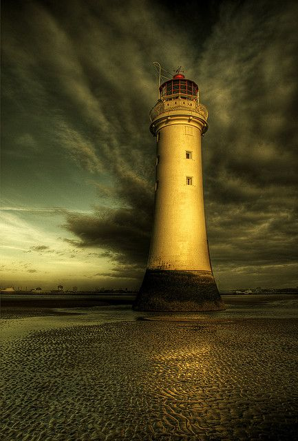 "Perch Rock, New Brighton, United Kingdom by Steve Clee on Flickr. ""Blessed with some great clouds this evening.......welcome back to the rock!"""