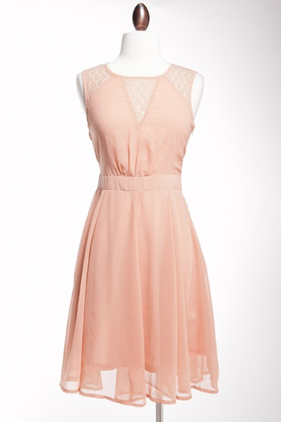 Urban 1972 :: What's New :: Lena Lace Detail Dress-Dusty Pink