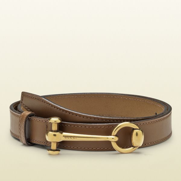 Gucci Maple Brown Leather Belt with Horsebit Buckle 2e24682f11f6