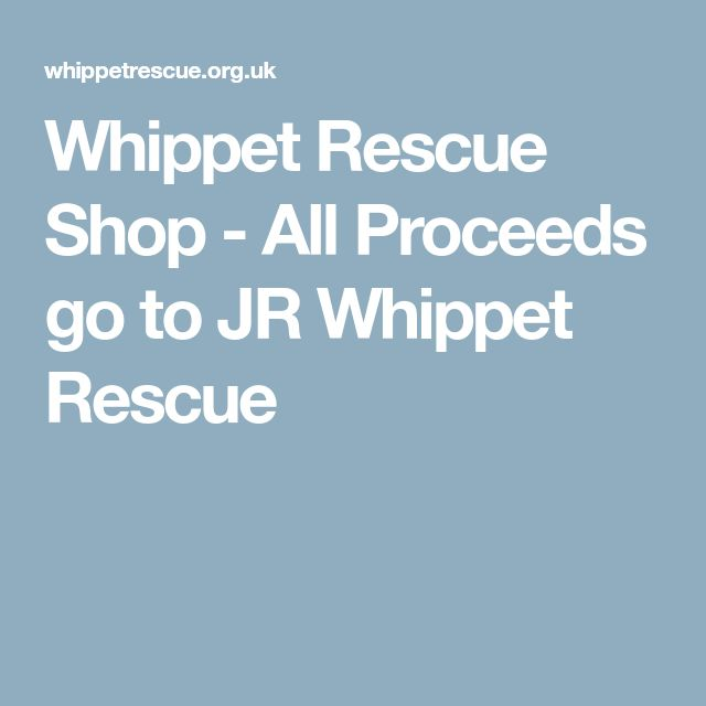 Whippet Rescue Shop - All Proceeds go to JR Whippet Rescue
